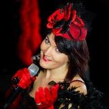 Chanson петь Christel Керна Портрет французской актрисы место стоковое фото rf