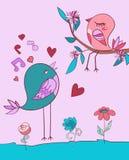 Chanson d'oiseau d'amour Photographie stock libre de droits