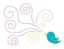 Chanson d'oiseaux Image stock