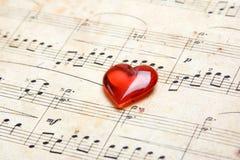 Chanson de l'amour Image stock