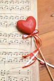 Chanson de l'amour Image libre de droits