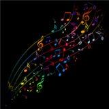 chanson de musique de couleur Photos stock