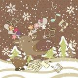 Chanson de Noël illustration de vecteur