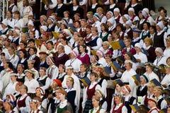 Chanson et concert d'ouverture de festival de danse à Riga Image stock