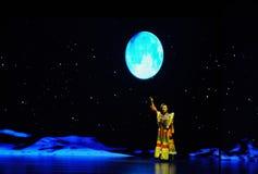 Chanson-grand  folklorique tibétain de show†de scénarios d'échelle le  de legend†de route Photos libres de droits