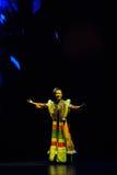 Chanson-grand  folklorique tibétain de show†de scénarios d'échelle le  de legend†de route Images libres de droits