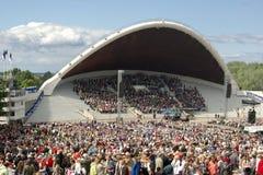 chanson Tallinn de l'Estonie de danse de célébration Image stock