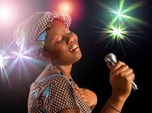 Chant africain de femme Photographie stock