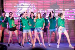 Chant chaud de champ et cinquante-premier concours de Mlle International Jiangxi de danse-Le Image libre de droits