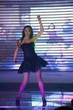 Chant chaud de champ et cinquante-premier concours de Mlle International Jiangxi de danse-Le Photos stock