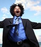Chant d'homme d'affaires Photo stock