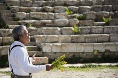 Chant dans l'amphithéâtre Photographie stock