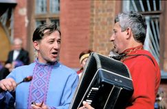 Chant de chanson folklorique Image stock