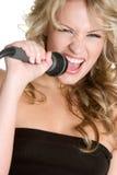 Chant de fille de karaoke Images libres de droits