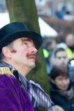Chant de Noël de caractères de festival de Dickens Photo stock