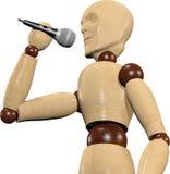 Chant en bois de marionnette Photos libres de droits