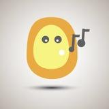 Chant souriant de visage d'emoji créatif Photographie stock libre de droits