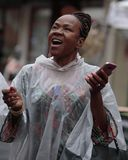 Chant sous la pluie Photo libre de droits