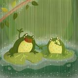Chant sous la pluie images libres de droits