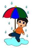 Chant sous la pluie Photos stock