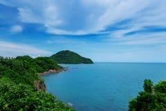 CHANTABURI,泰国- 2018-05-28 14:33 :49Beautiful海岛和 免版税库存照片