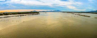 Chantaburi Thailand van de Leamsingsrivier Stock Foto's