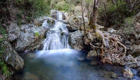 Chantara falls in the troodos mountains 2. The first stage of the chantara falls in the troodos mountains Royalty Free Stock Image