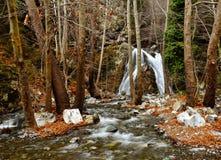 Chantara vattenfall Cypern Fotografering för Bildbyråer