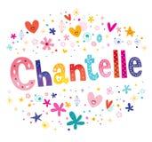 Chantelle French flickanamn stock illustrationer