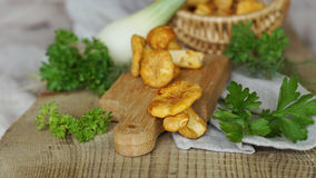 Chanterelle with celery and onion Stock Images