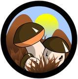 Chanterelle Mushrooms label royalty free stock photography