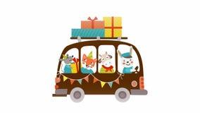 Chanterelle, mysz, cakle i królik, iść wy na urodziny (wioska) ilustracji