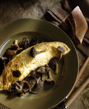 Chanterelle omelette. Food, gastronomy, cooking,cookery Stock Image