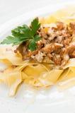 Chanterelle with pasta Stock Photos