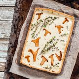 Chanterelle and Thyme Tart Royalty Free Stock Photo