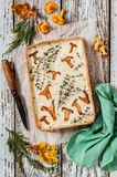 Chanterelle and Thyme Tart Royalty Free Stock Photography