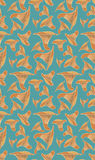 Chanterelles on blue pattern Stock Images