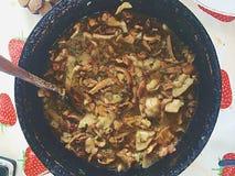 Chanterelles stew Στοκ Εικόνα