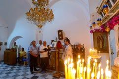 Chantersprästliturgi arkivfoto