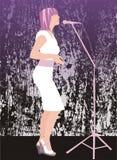 Chanteur étouffant Photo stock
