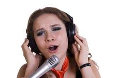 Chanteur. images libres de droits