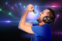 chanteur Photos libres de droits