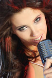 Chanteur Photo stock