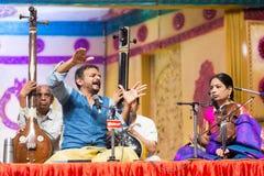 Chanteur acclamé T M Krishna de musique de Carnatic de concert Images libres de droits