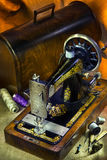 Chanteur antique Sewing Machine Image stock