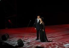 Chanteur célèbre Cheng Zhihe Wang Xiufen-theFamous de chant de bel de Chinois et classicconcert Images stock