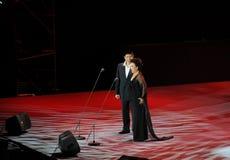 Chanteur célèbre Cheng Zhihe Wang Xiufen-theFamous de chant de bel de Chinois et classicconcert Photos libres de droits