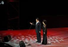 Chanteur célèbre Cheng Zhihe Wang Xiufen-theFamous de chant de bel de Chinois et classicconcert Photos stock