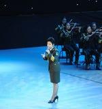 Chanteur célèbre Dong Wenhua-theFamous de militaires et classicconcert Photographie stock