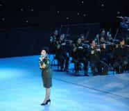 Chanteur célèbre Dong Wenhua-theFamous de militaires et classicconcert Photo libre de droits